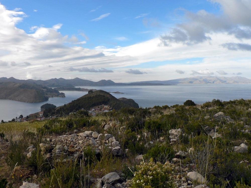 Le lac Titicaca vu depuis l'Isla del Sol, en Bolivie.