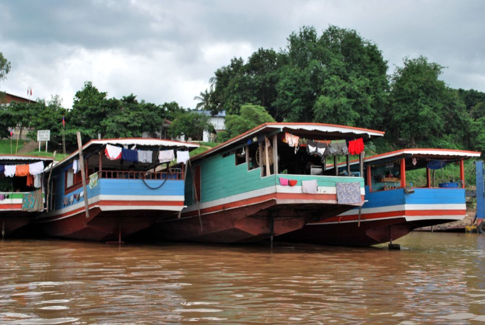 Embarcations sur le Mékong