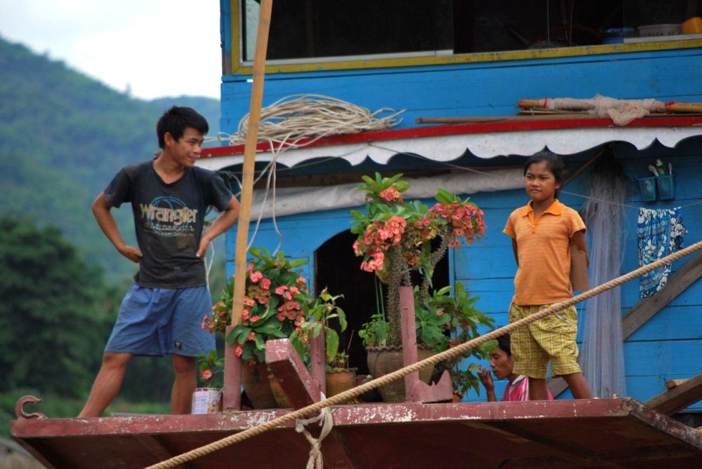 Une famille laotienne
