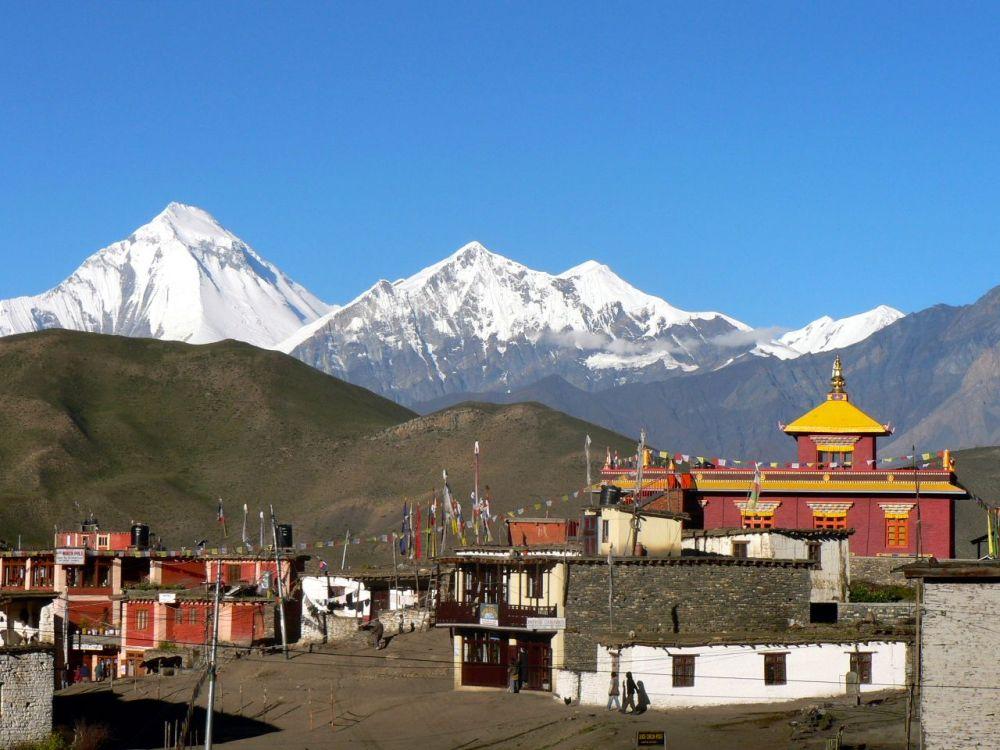 Village sur le chemin de l'Annapurna