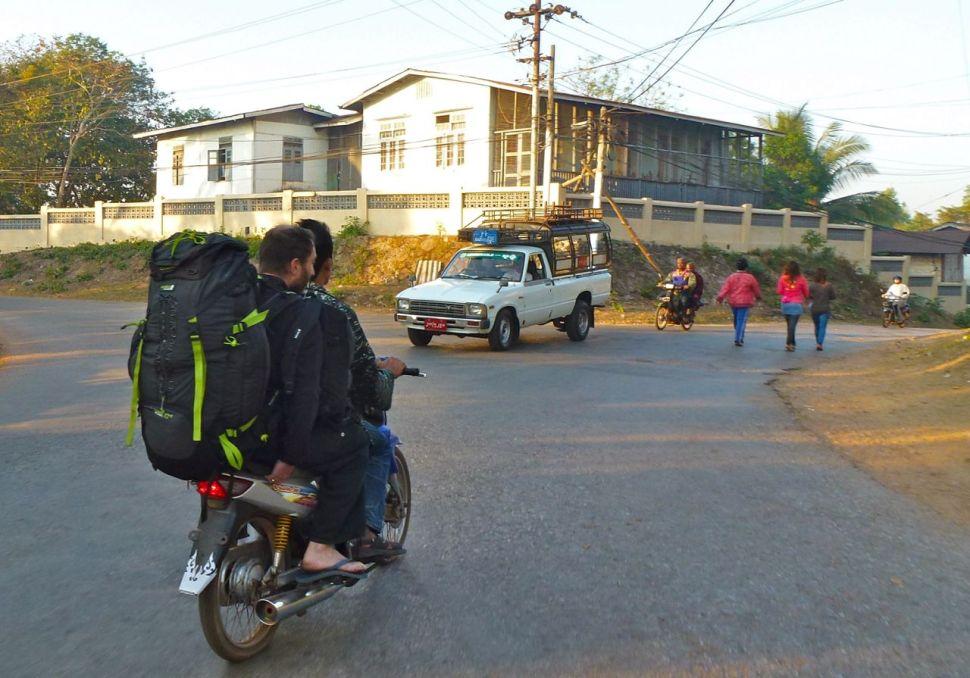 Moto taxi Birmanie