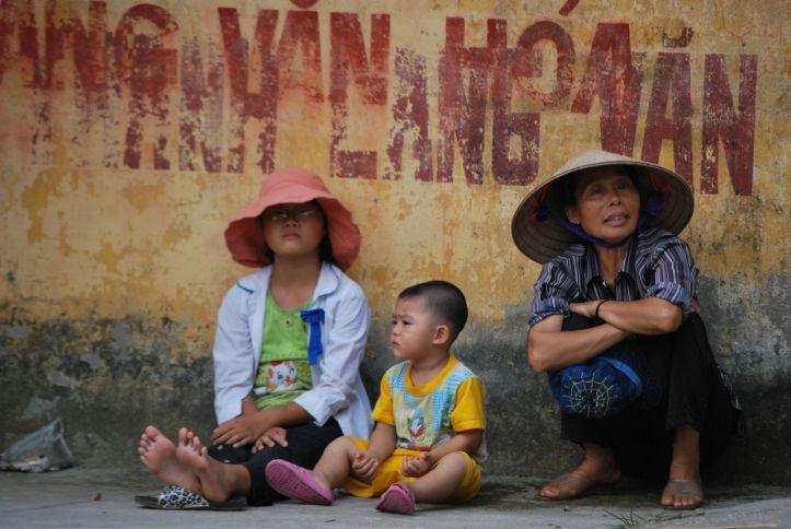 Scène de campagne près d'Hanoi.