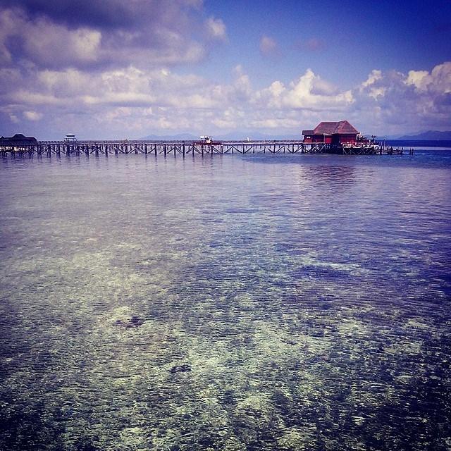 L'île de Mabul, point de départ pour la plongée vers Sipadan.