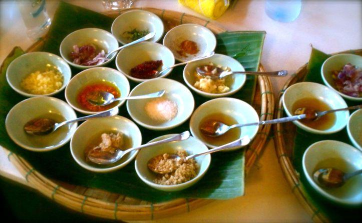 Echantillons de saveurs vietnamiennes...