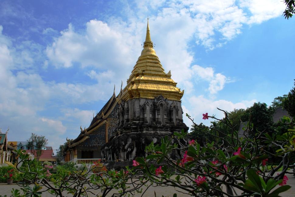 Un des nombreux temples de Chiang Mai