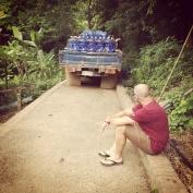 En attendant que le camion soit réparé - Luang Prabang, Laos